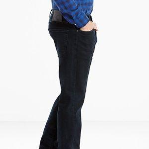 Levi's 505 Jeans 33 x 30 Regular Stretch Dark New